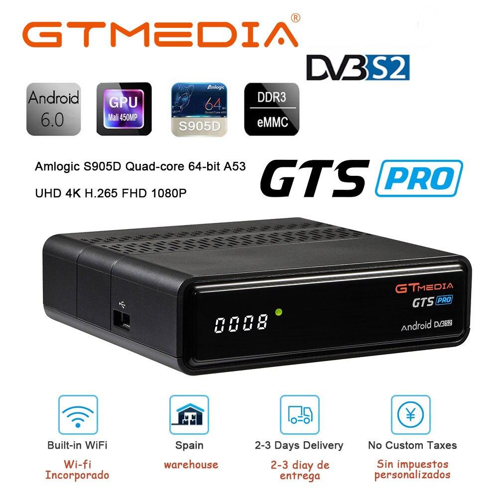 GTMEDIA GTS / GTS PRO Android 6.0 Smart TV BOX S905D 2G 8G Set Top Box 4K 3D H.265 Wifi media player TV Receiver Global Receiver